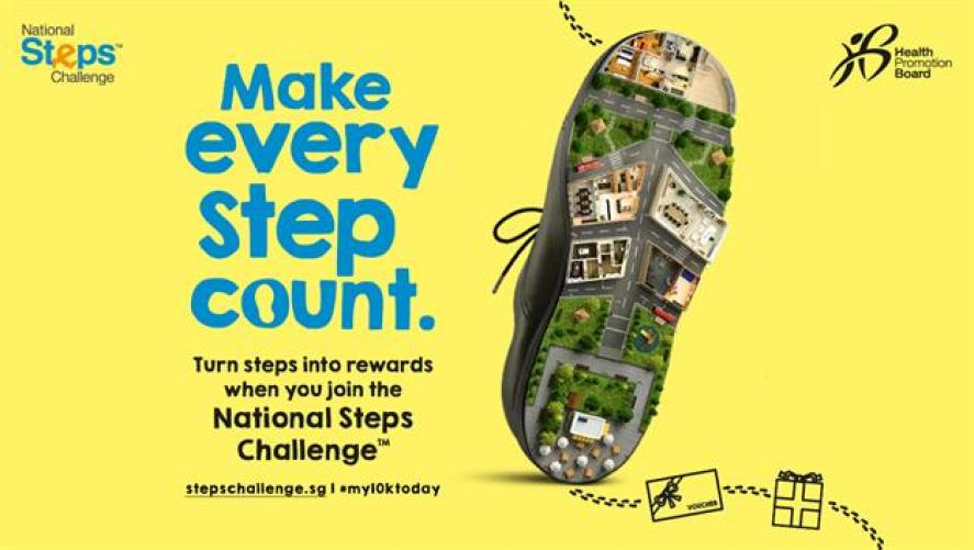 Image result for sg steps challenge