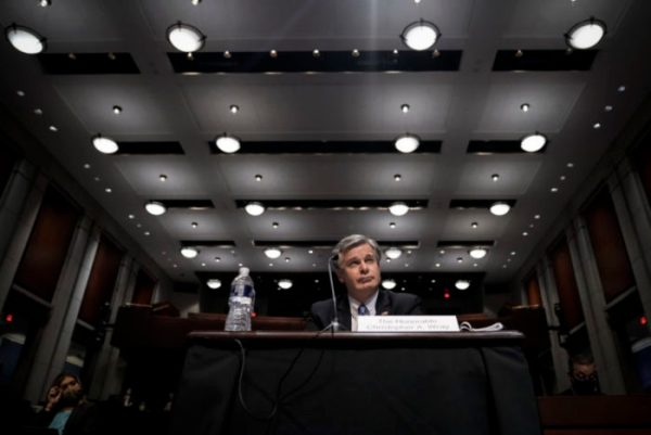 FBI Director Christopher Wray testifies during a House Judiciary Committee oversight hearing on Capitol Hill June 10, 2021 in Washington, DC.