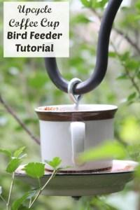 Upcycle Coffee Cup Bird Feeder Tutorial {Under $5 Craft ...