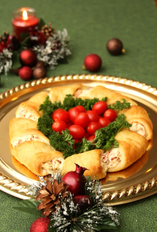 Christmas Wreath Crescent Rolls Appetizer Recipes  Just