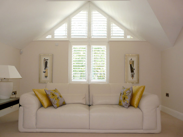 Special Shapes  Shutters for Triangular Windows  Bespoke
