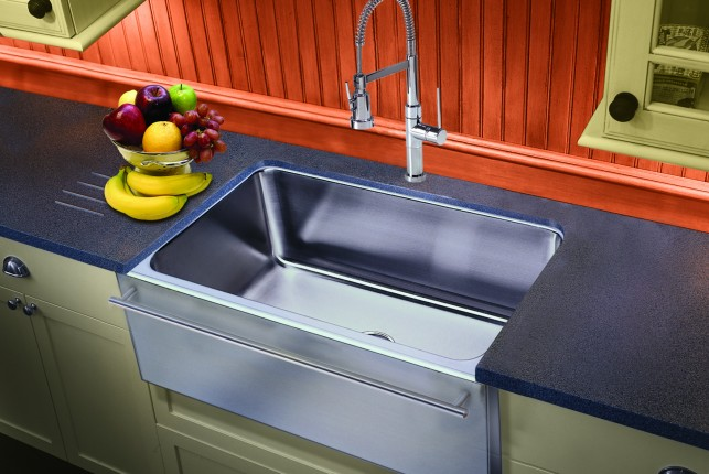 farmers sinks for kitchen blinds windows apron front farmhouse made in usa by just stainless steel are a top design trend that will perfectly integrate into traditional or contemporary setting