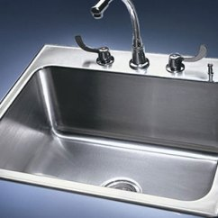 19x33 Kitchen Sink Kichler Lighting Drop In Stainless Steel Single Bowl Sinks By Just Conventional