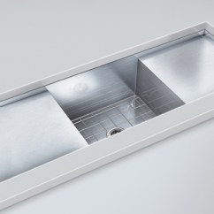 Kitchen Sinks With Drainboard Built In Fluorescent Lighting Stainless Sink Appliances Tips And Review Steel E Mini 2 1 2b J18si 1852