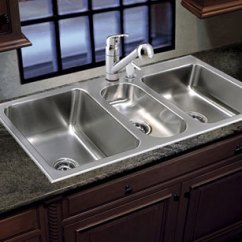 Triple Kitchen Sink Modern Islands Bowl Stainless Steel Made In Usa Just Sinks Conventional Line Of Sinkware Drop Undermount