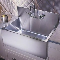 Large Kitchen Sinks Remodel Pictures Farmhouse Sink With Steel Backsplash Stainless