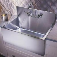 #Kitchen Sinks - Large Apron Basins With Steel Backsplash ...