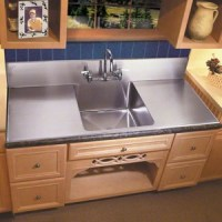 Kitchen Sinks | Large Farmhouse Sink With Steel Backsplash