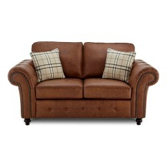 2 Seater Brown Sofa Studio Apartment Sofas Oakland Faux Leather In Just Sleep On It