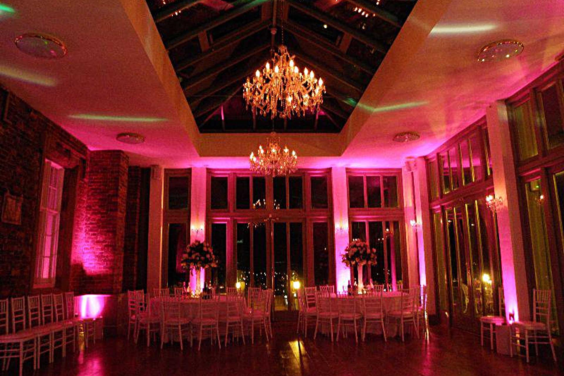 wedding lighting hire stage event
