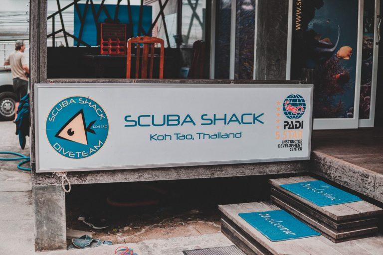 Scuba Shack's entrance