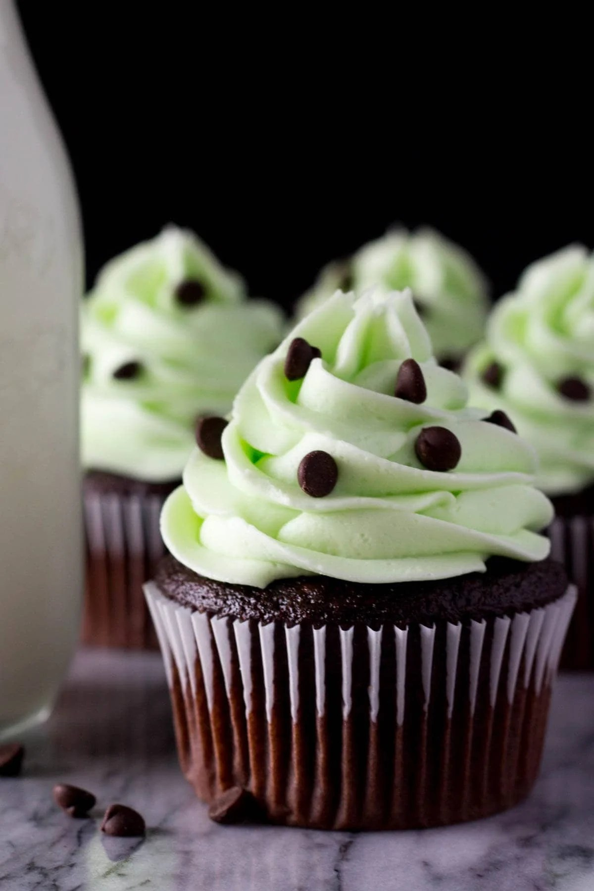 Mint Chocolate Cupcakes Just So Tasty