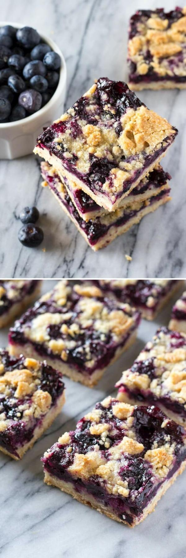 Blueberry Crumble Bars Just So Tasty