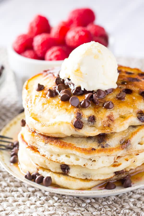 Image result for chocolate chip pancakes