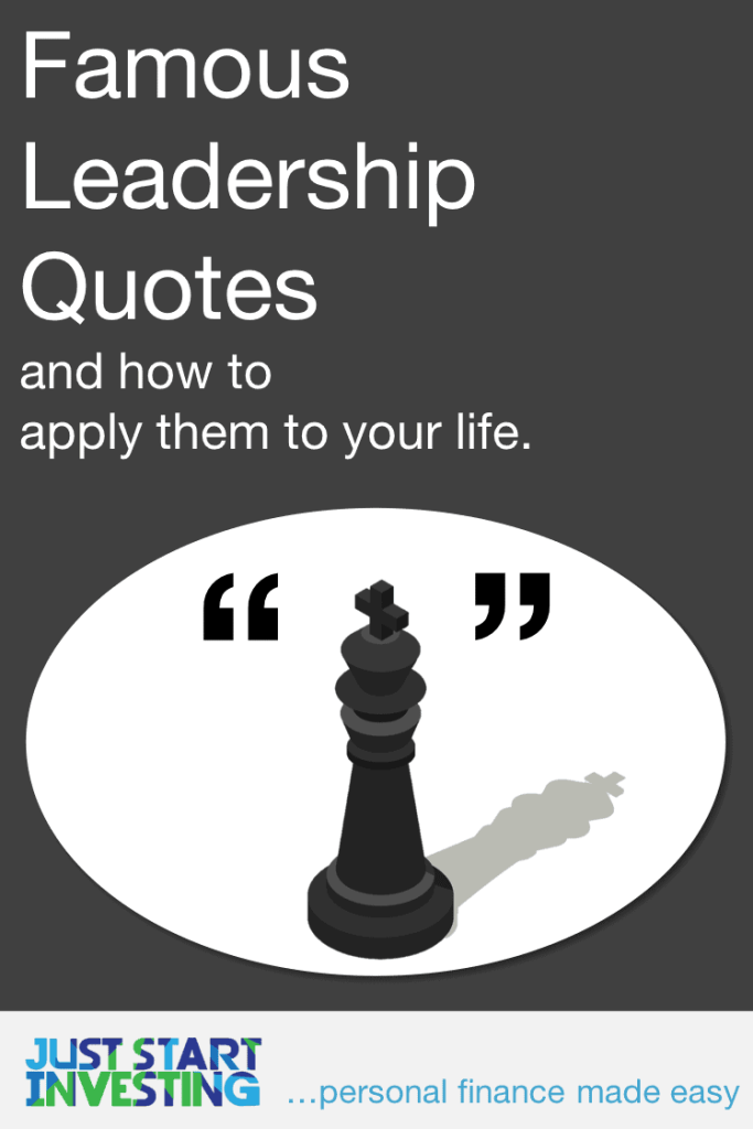 Famous Leadership Quotes Pin