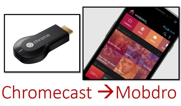 how to cast mobdro to chromecast
