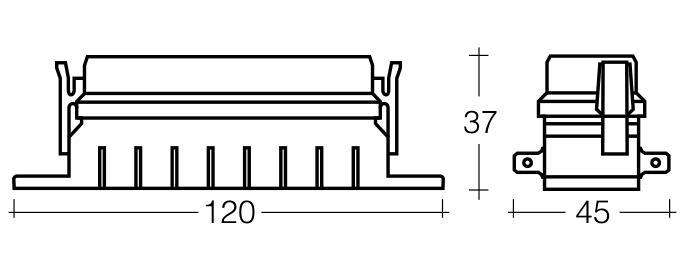 Narva 8-Way Standard Ats Blade Fuse Box 120 X 36 X 22mm