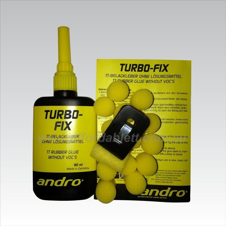 Andro Turbo-Fix Table Tennis Rubber Glue without VOC 90ml