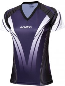 andro Polo TAJO Women V-Neck purple/black