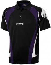 andro Polo PONCA Blk /Purple 100% Polyester IndoorDRY