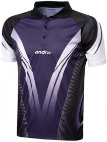 andro Polo TAJO Black /Purple 100% Polyester IndoorDRY