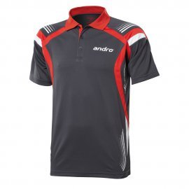andro Polo Magua Grey/Red 100% Polyester IndoorDRY