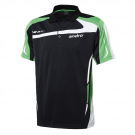 andro Polo Agus Blk/Green 100% Polyester IndoorDRY