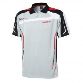 andro Polo Agus Grey/Red 100% Polyester IndoorDRY