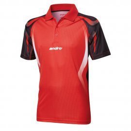 andro Polo Netis Red/Black 100% Polyester IndoorDRY