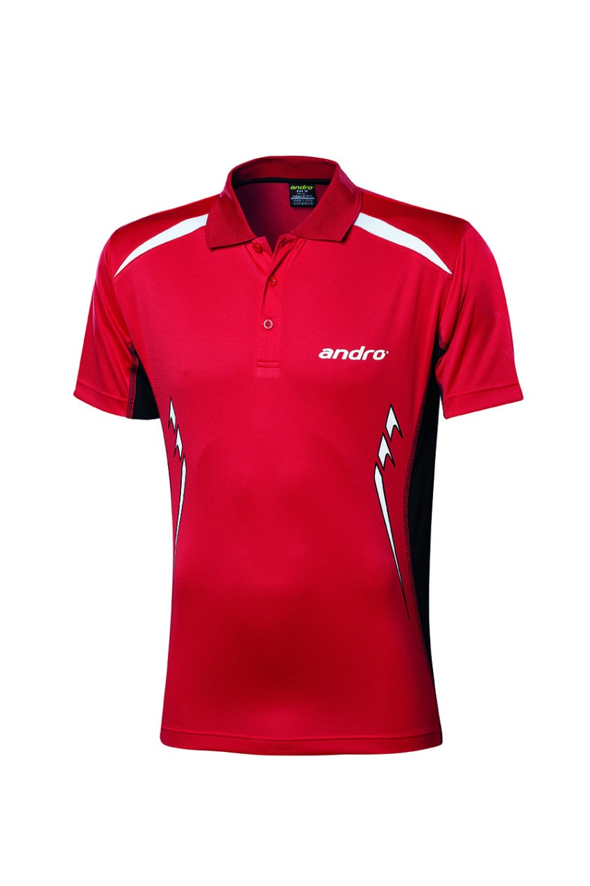 andro Polo Navas Red/Blk 100% Polyester IndoorDRY