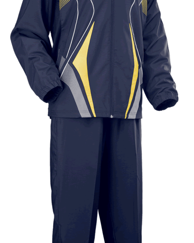 Tibhar Tracksuit Race Complete Navy/Yellow