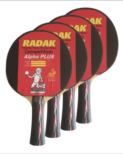4 x Radak Alpha PLUS Competition Ready made Bats