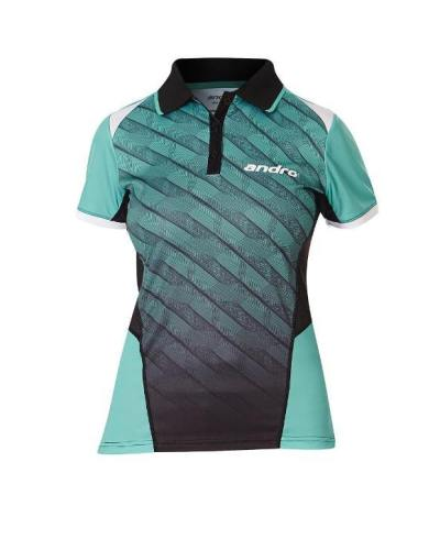 andro Polo Milos Women Green/BLK 100% Polyester IndoorDRY