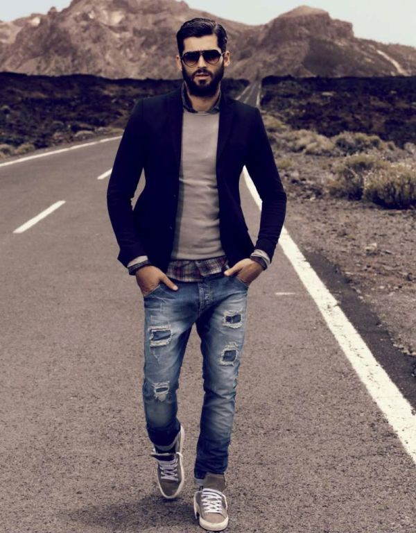 Blazer with Jeans Looks for Men
