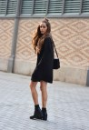 Black Dress with Boots Outfits