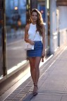 Outfits with Denim Mini Skirt