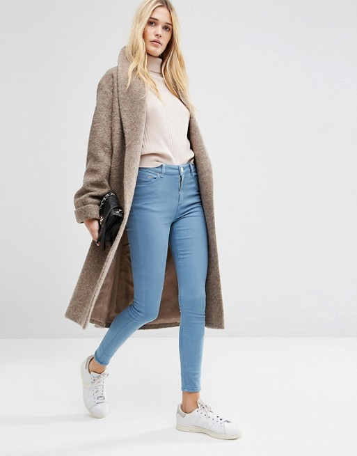Oversized Knitted Coat In Wool Blend With Shawl Collar From ASOS