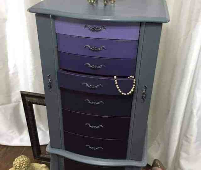 Ombre Painted Jewelry Armoire Ombre Painting Technique How To Ombre Paint How To