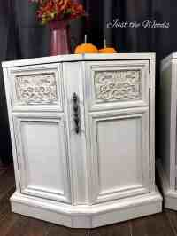 Chic Vintage End Tables Painted Distressed White