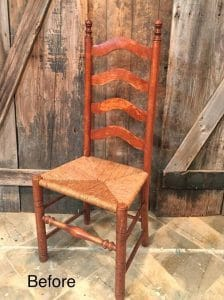 antique ladder back chairs with rush seats chair legs for sale how to paint the perfect easy way