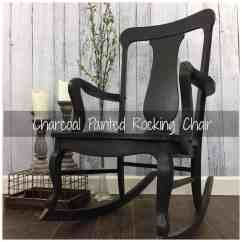Diy Rocking Chair Kit Folding Rubber Feet Charcoal Gray Painted By Just The Woods