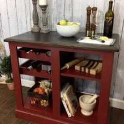 Red Kitchen Islands Frigidaire Appliances Reviews How To Paint Your Own Island For Radiant Painted Sale Farmhouse Rustic
