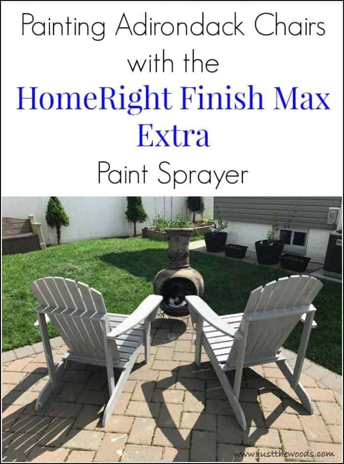 Painting Outdoor Adirondack Chairs with HomeRight Finish