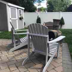Gray Adirondack Chairs Dining Room Chair Replacement Covers Painting Outdoor With Homeright Finish Max Extra Painted Shed