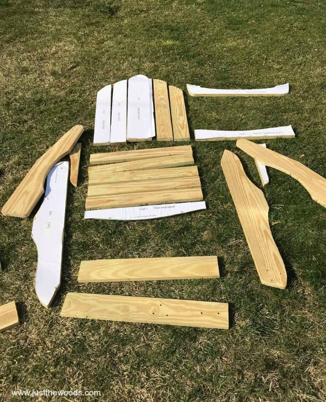 how to build an adirondack chair back support for office walmart chairs from scratch template diy plans free