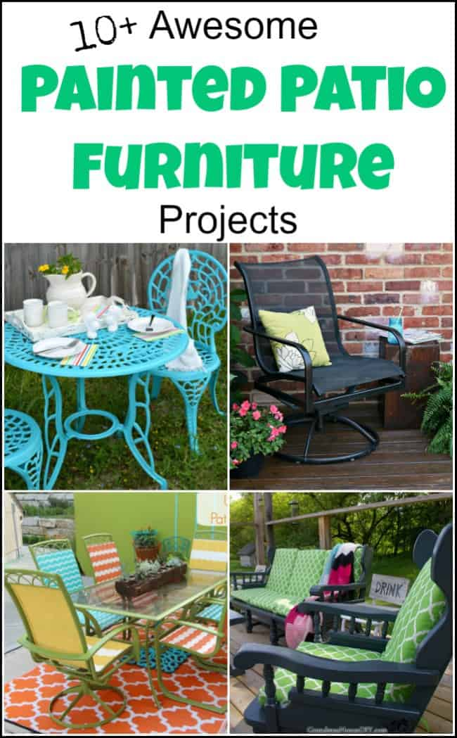 painting outdoor furniture for a
