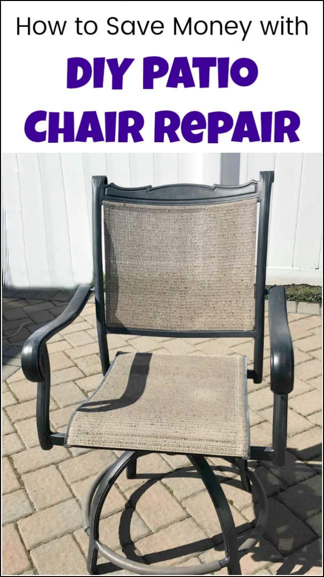 redo sling patio chairs pedestal gaming chair how to save yourself money with diy repair tons of