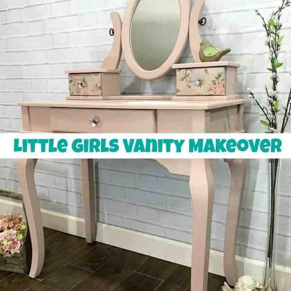 Little Girls Vanity Makeover Trash Treasure