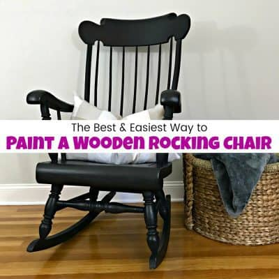 diy painted windsor chairs red counter height dining furniture makeovers projects using a paint sprayer how to wooden rocking chair with spindles the easy way