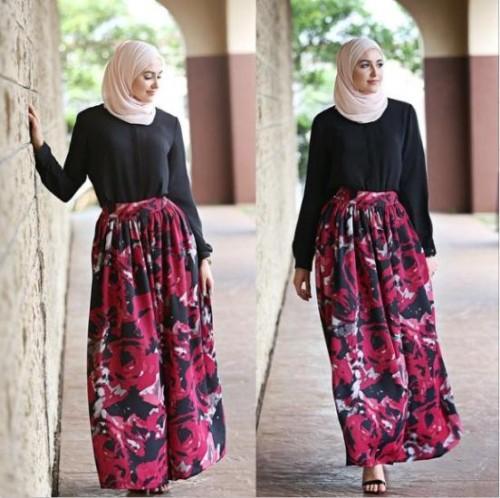 leena floral maxi skirt